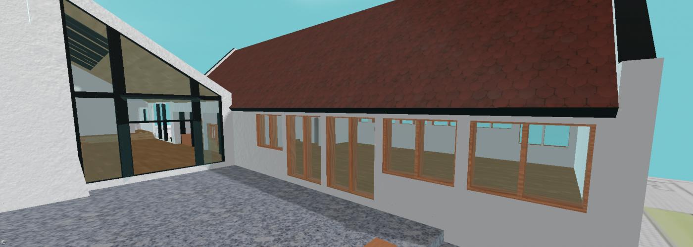 3D-Modell neues Gemeindehaus